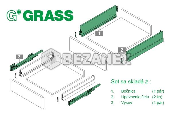 00.01 GRASS -  Nova PRO SCALA H90/600/40kg s tlmením - sivá, ks