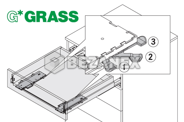 00.01 GRASS - NOVA PRO Tipmatic Soft close , ks