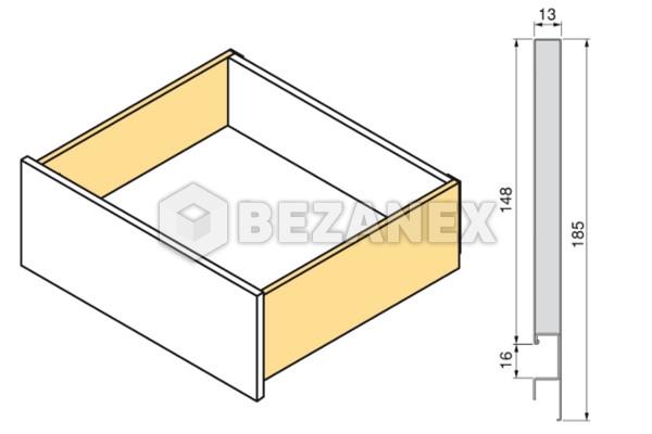 02.08  Concept - Biela 185/400mm nizky ,1 set