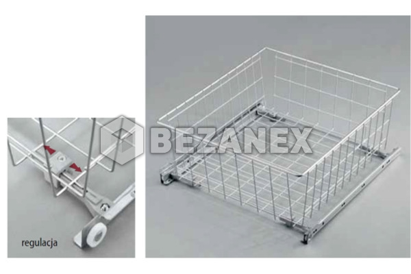 10.01 košík - 500mm Biely  BEZ TLMENIA - V=150mm , ks