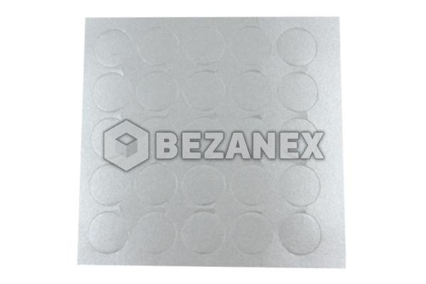 20.04 Krytka nalepovacia - malá  13´ - 058 aluminium, plát