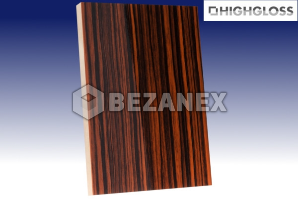 24.02 AGT WOOD - MDF Doska 604 HG Ebony /18x1220x2800mm/ ks