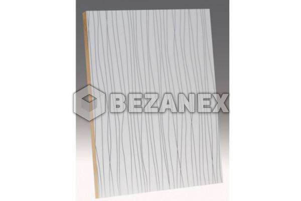 24.05 AGT SPECIAL - MDF 1211 Black rained whi /18x1220x2800mm/ks