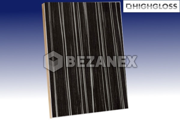 24.02 AGT WOOD - MDF Doska H25 Zebra black /18x1220x2800mm/, ks