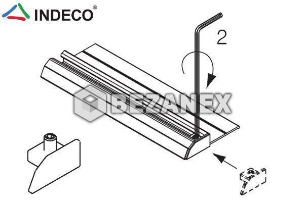 25.03 INDECO  AL šedá záslepka jednokoľajnice dolnej ľavá ks