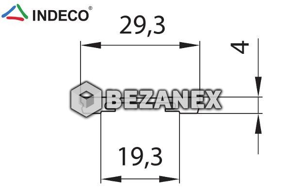25.03 Indeco  - krycia lišta na dolnú kolaj - šampáň - AL , 1m